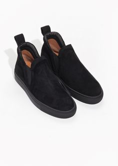& Other Stories image 2 of Suede Sneakers in Black