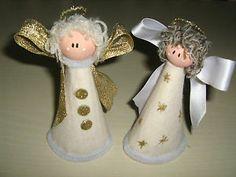 Angelo morbido in feltro addobbo decorazione albero di Natale