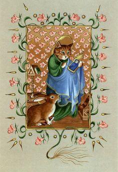 """""""Saint Luke (Cats Medieval)"""" par Susan Herbert"""