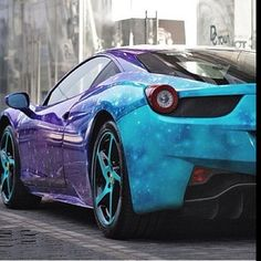 Galaxy wrapped Ferrari 458 italia! Now this is perfection, so nice!