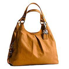 Coach Limited Edition Leather Large Maggie Shoulder Bag 13897 Saffron