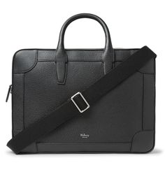 Crowded train cars and bumping into turnstiles - daily commutes can take a toll on your briefcase. Designed with reinforced corners to withstand such wear and tear, <a href='http://www.mrporter.com/mens/Designers/Mulberry'>Mulberry</a>'s 'Belgrave' version is made from full-grain leather and has a trio of internal pockets for your phone and business cards. It comes with a removable strap, so you can carry it by the handles to ...