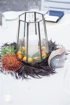 lanterns with colorful botanicals James Beard Foundation, Ursula, Terrarium, Lanterns, Colorful, Table Decorations, Wedding, Home Decor, Terrariums