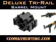 MNT-BR002LP Leapers Deluxe Tri-Rail Barrel Mount 2 Slot - AK 47 Accessories - AK 47 Parts Nuclear Apocalypse, Flashlight, Barrel, Barrel Roll, Barrels