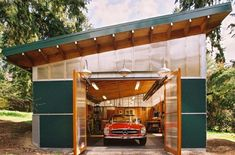 Modern garage w/ economical construction