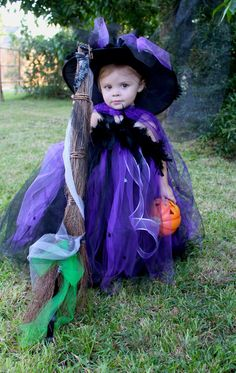 witch costumes made from tull | OTT Witch Tutu Dress Costume 12m5T by AvaBellesCloset on Etsy