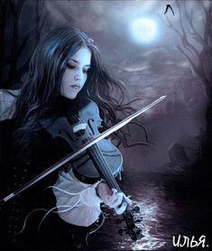 Девушка играет на скрипке