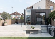 Image 9 of 20 from gallery of Charcoal House / Yellow Cloud Studio. Courtesy of Yellow Cloud Studio Larch Cladding, House Cladding, House Extension Design, Glass Extension, Residential Architecture, Architecture Design, Landscape Architecture, Landscape Design, Charcoal House