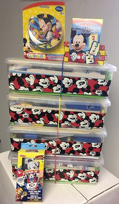 More Mickey-themed boxes! Operation Christmas Child, Shoe Box, Frosted Flakes, Kids Christmas, Charity, Boxes, Children, Tambourine, Young Children