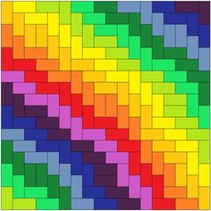 Best Rainbow Quilting Patterns Ideas – Famous Last Words Quilt. - Квадратики - Best Rainbow Quilting Patterns Ideas – Famous Last Words Quilting - Motifs Bargello, Bargello Quilt Patterns, Bargello Quilts, Jellyroll Quilts, Scrappy Quilts, Quilt Block Patterns, Easy Quilts, Mini Quilts, Quilt Blocks