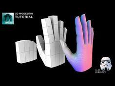 Easy Hand Modeling Tutorial in Maya - YouTube