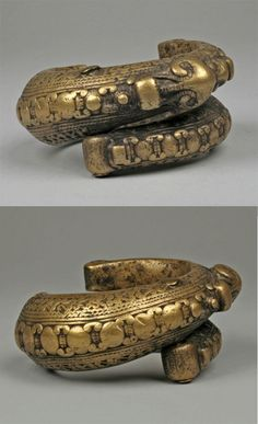 Indonesia, Sumatra. Brass Bracelet. Toba Batak people. 19th to early 20th century.