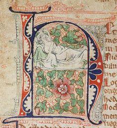 Dreaming of a Rose by unknown creator, Brabant ca. 1300 - 1350 via Koninklijke Bibliotheek on Wikimedia Commons, Public Domain