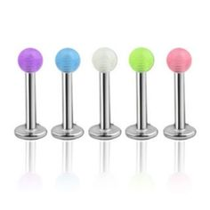 Glow in the Dark Monroe / Labret Lip Tragus Ring Surgical Steel