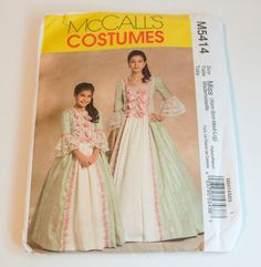 Early American Lady Southern Bell Marie Antoinette Gown Theater Costume Girl #McCalls