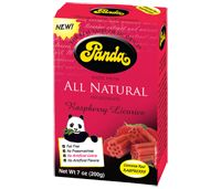 Panda All Natural Red Rasperry licorice - soooooo good and no funny fake ingredients!