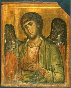 Saint Gabriel, Date:Unknown, tempera on panel; The Sinai Icon Collection, Princeton University