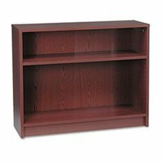 1870 Series Bookcase, 2 Shelves, 36w x 11-1/2d x 29-7/8h, Mahogany by HON. $142.86. HON 1870 Series square edge laminate bookcase. Color: Mahogany; Material: Laminated; Shelf Count: 2.