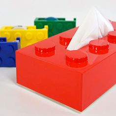 Lego Kleenex box holder - brings me back to my childhood.