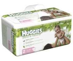 Huggies Pure & Natural Diapers, Size 2, 144-Count - http://www.intomars.com/huggies-pure-and-natural-diapers-size-2.html