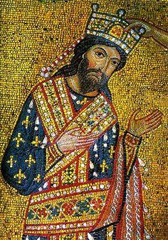 man with lorum scarf Mosaico Imperio Bizantino