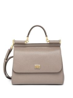 Dolce & Gabbana - Sicily Small Textured Leather Top-Handle Satchel - Saks.com