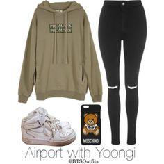 Airport with Yoongi