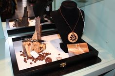handcrafted pen $35, wooden necklace $14