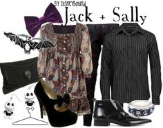 Jack and Sally fashion from The Nightmare Before Christmas