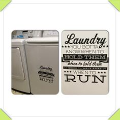 You gotta know when to fold 'em! #uppercaseliving #laundry #laundryroom #ultorreh #vinyl
