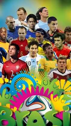 Brazil 2014 World Cup Football Stars #iPhone #5s #Wallpaper
