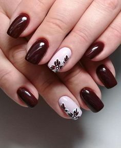 Trend Herbst Nägel: Weinrot Art Designs Nägel, Nail Art, # Frisur … – Nägel, You can collect images you discovered organize them, add your own ideas to your collections and share with other people. Acrylic Nail Designs, Nail Art Designs, Acrylic Nails, Nail Gel, Gel Manicure, Nails Design, Wine Nails, Nagellack Trends, Nails 2018