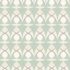 Spotlight Green (264745) - Albany Wallpapers - A retro styled wallpaper design featuring an all over geometric pattern. Shown here in the green colourway. Other colourways are available. Please request a sample for a true colour match. Paste-the-wall product.