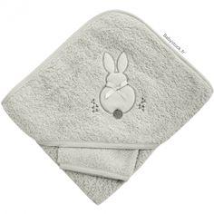 f627daffcc840 Sortie de bain bébé mixte en éponge gris perle brodée Lapin > Babystock