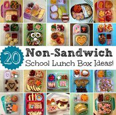 20 Non-Sandwich School Lunch Box Ideas