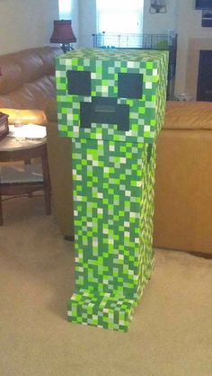 DIY Halloween creeper costume I made
