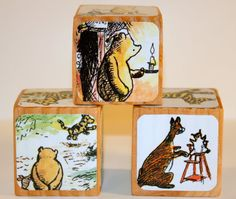 Winnie The Pooh  Baby Shower Gift  Nursery Room by Booksonblocks, $12.00