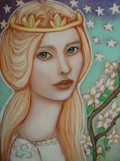 The Empress tarot Pagan Avalon fairy 5x7 art by MoonSpiralart, $9.00