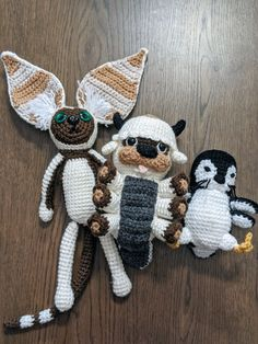 Appa, Momo and Otter penguin amigurumi c | Mercari Crochet Animal Patterns, Stuffed Animal Patterns, Crochet Patterns Amigurumi, Crochet Animals, Crochet Dolls, Knitting Patterns, Kawaii Crochet, Cute Crochet, Crochet Baby