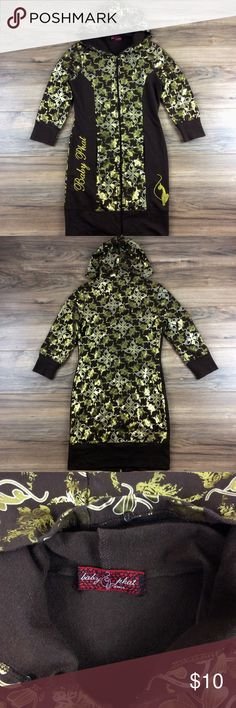 Baby Phat Long Hoodie Baby Phat long hoodie. 100% cotton. Great condition. Like new. Baby Phat Jackets & Coats
