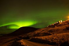 Northern light over the Faroe Islands
