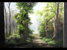 Oil Painting Walk in the Forest - Paint with Kevin Hill - YouTube