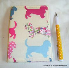 A6 Notebook A6 Lined Journal Dachsund Fabric by Mastersandmatthews