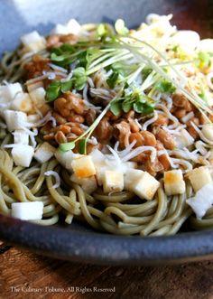 Green Tea Soba Salad with Natto