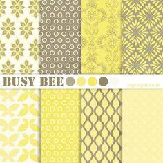 Yellow, green, and cream fun patterns