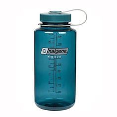 Nalgene Tritan Wide Mouth BPA-Free Water Bottle, Cadet W/ Cadet Cap, 32oz. For product info go to:  https://all4hiking.com/products/nalgene-tritan-wide-mouth-bpa-free-water-bottle-cadet-w-cadet-cap-32oz/