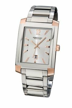Kenneth Cole Men's KC3753 Reaction Silver-Tone Bracelet Watch Kenneth Cole REACTION. Save 52 Off!. $49.95. Quality Japanese-Quartz movement. Water-resistant to 99 feet (30 M). Stainless- steel case; Silver-white dial; Date function. Case diameter: 32 mm. Mineral crystal