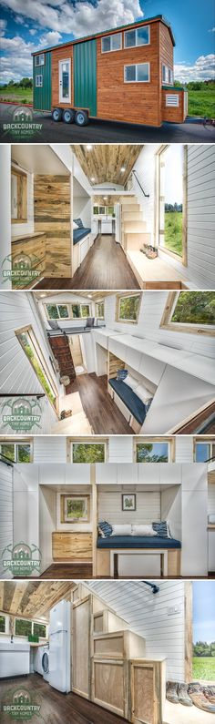 The Juniper is a 290-square-foot fully furnished turn-key tiny house built by Backcountry Tiny Homes in Vancouver, WA. Priced at $55,000.