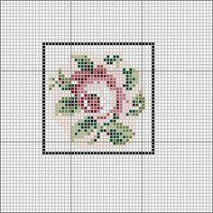 OPENHOUSEMINIATURES Berlin Wool Work Style rose