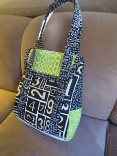 Sew Sweetness: Petrillo Bag using text fabrics